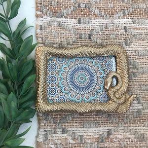 Opalhouse Cast Brass Snake Picture Frame